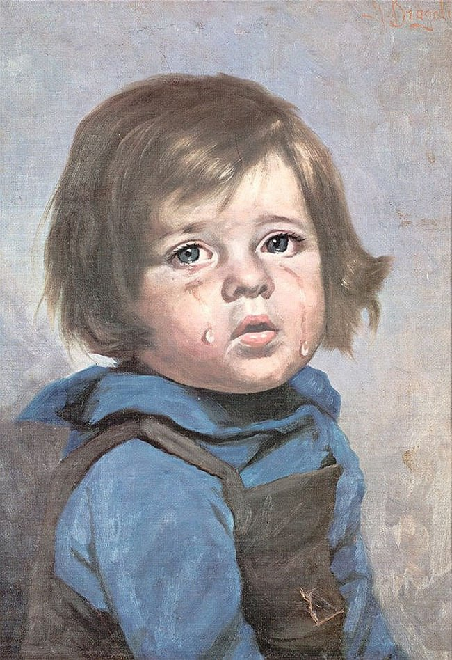 (?) Джованни Браголин (Бруно Амадио) «Плачущий мальчик»