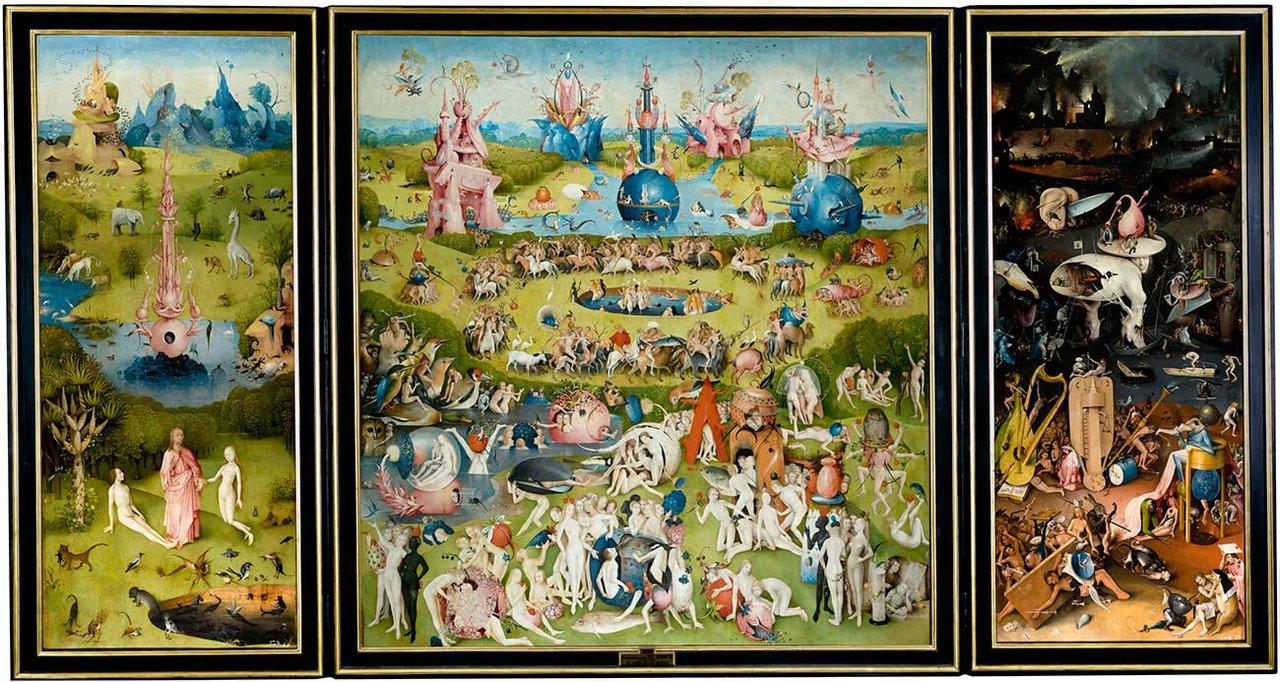 Иероним Босх «Сад земных наслаждений» (ок. 1503–1515), Музей Прадо, Мадрид