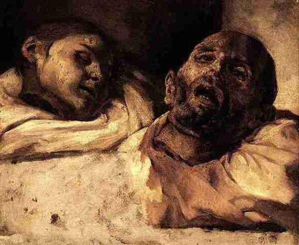 Теодор Жерико «Головы, отрубленные гильотиной» (вторая половина 1810-х), Музей Лувра, Париж