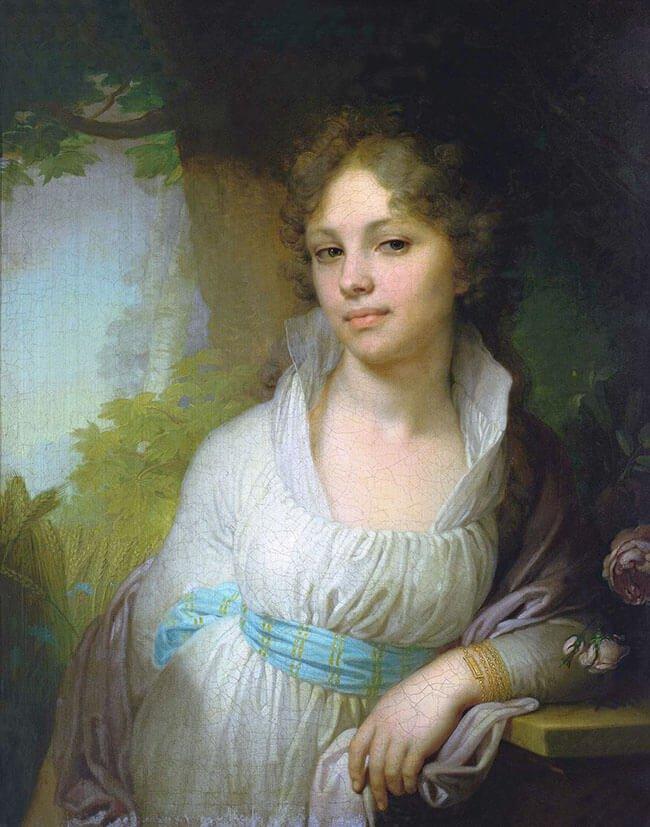 В. Л. Боровиковский «Портрет М. И. Лопухиной» (1797), Третьяковская галерея, Москва